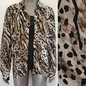 Alfred Dunner Animal Print 2 PC Look Blouse